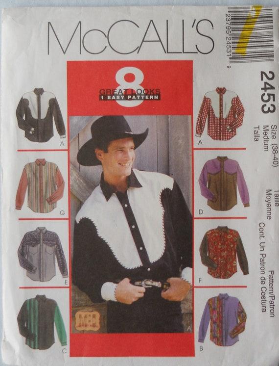McCall 2453. Herren westernhemd Muster. Herren Rodeo Shirt   Etsy
