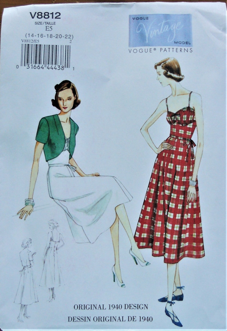 Vintage vogue patterns 1940