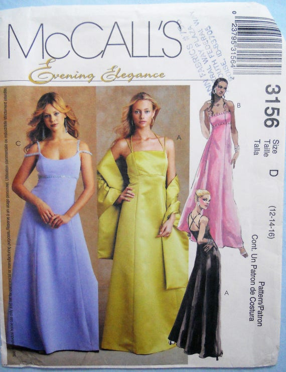 McCall 3156. Brautjungfer Kleid Muster.