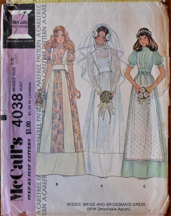 McCall 4038. Brautkleid-Muster. Vintage | Etsy