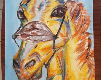 Large Abstract and Acrylic Horse