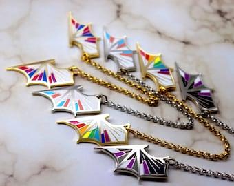 PRIDE - Hard enamel collar pins : LGBT Rainbow Bisexual Pansexual Transgender Nonbinary Aromantic Asexual Lesbian