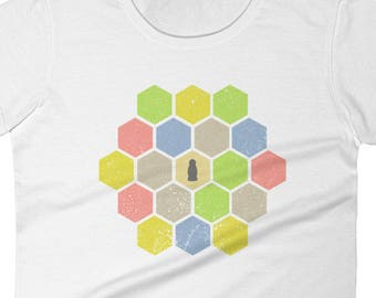 Distressed Catan Women's Shirt - Settlers of Catan Shirt, Board game Tee, Boardgame Shirt, Funny Shirt, Geeky Tshirt Nerdy Clothes Table Top