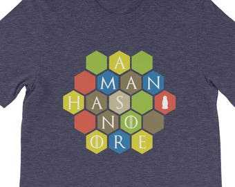 A Man Has No Ore Men's Shirt - Settlers of Catan Shirt, Board game Tee, Boardgame Shirt, Funny Shirt, Geeky Tshirt, Nerdy Clothes, Table Top