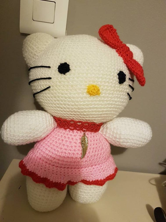 Hallo Spielzeug Kitty Häkeln Die Gefüllte Amigurumi Etsy