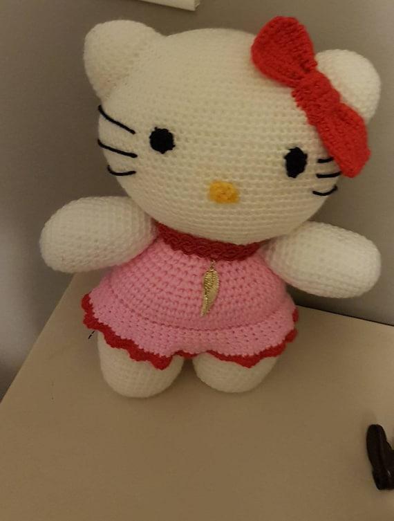 Hallo Spielzeug Kitty Häkeln Die Gefüllte Amigurumi Handgemachte Hello Kitty Häkeln Gefüllte Spielzeug Amigurumi Spielzeug