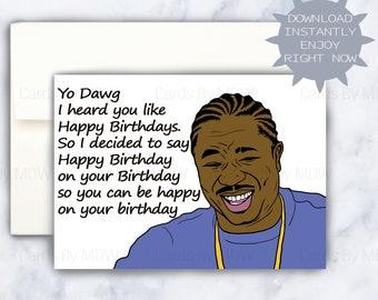 Happy Birthday Card Funny Fat Kid Card Birthday Cake Card Etsy