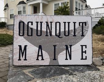 Ogunquit, Maine Sign   Rustic Beach Sign   Ogunquit Sign   Beach House Decor   Beach Sign   Wall Art   Housewarming Gift