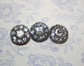 Beautiful Edwardian Set of Three Charming Antique Paste Buttons