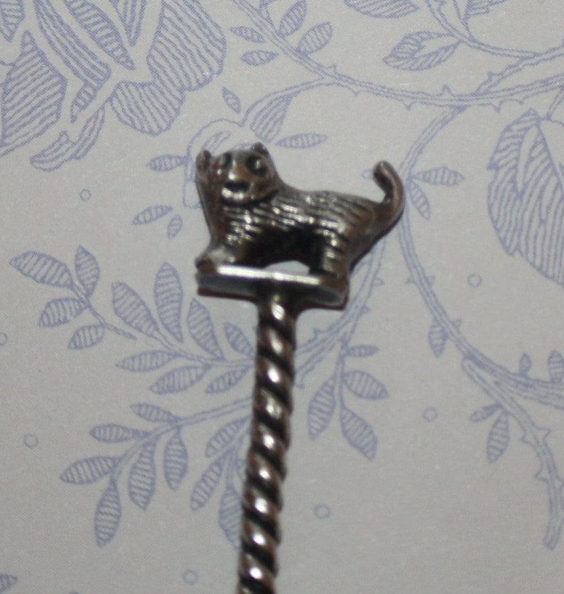 Beautiful Unique Silver Cat and Indian Coin Spoon 1912
