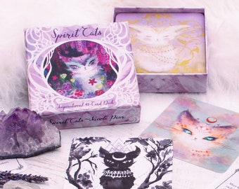 Spirit Cats Oracle Deck - Inspirational Card Deck - Tarot - New in Box - Sealed