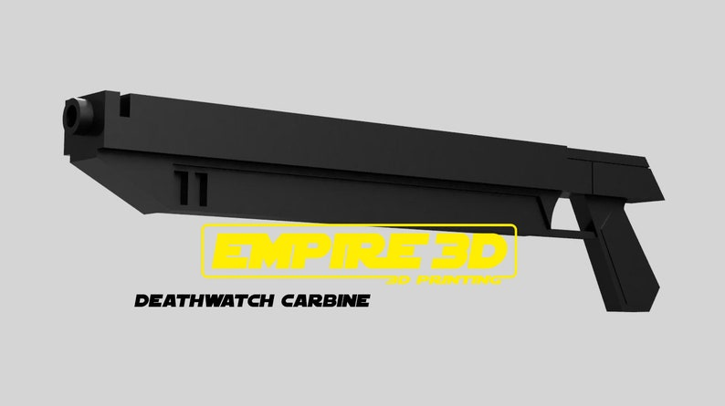 Animated Deathwatch mandalorian Carbine blaster Star Wars