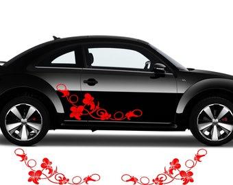 "Floral Large 12/"" Car Sticker Decal flower arabic retro lotus yoga mandala I15"