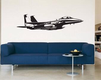 F-15 FIGHTER JET Vinyl Decal Sticker Car Window Wall Bumper Military Aircraft