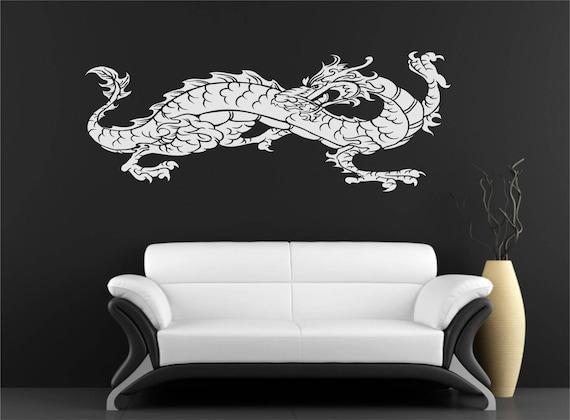 dragon wall art chinese dragon wall decal vinyl decor nursery | etsy