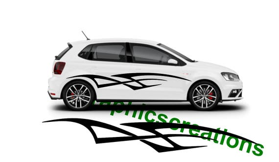 Tribal Car Decal Sticker Street Racing Decal Large Tribal Car Etsy