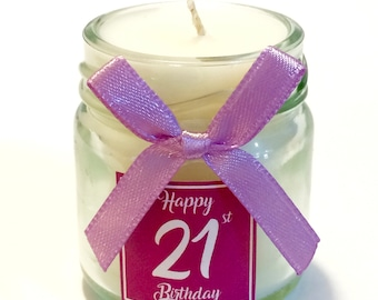 Personalised Scented Mini Birthday Candles For Gifts And Party Bags