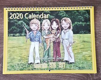 2020 Illustrated Wall Calendar - Australia 1976 - 1977
