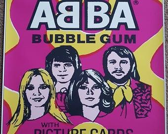 ABBA Poster - Scanlens Bubblegum