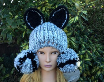 Crochet Pattern - Silver Fox Beanie Hat - Toddler, Child, and Adult sizes 170e91bbbd5