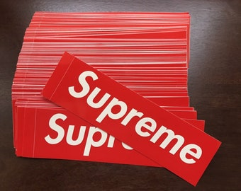 Supreme Box Logo Stickers Red Classic High Quality Fast Shipping New