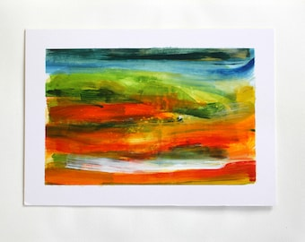 Untitled 2, Abstract Landscape Painting Using Acrylics
