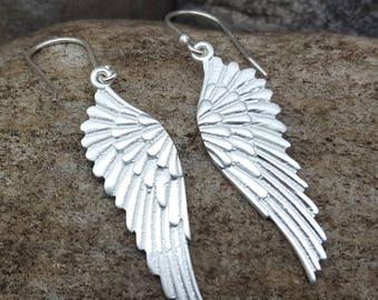 Filigree Earrings Dangling Wings Dangling Silver Wings Silver Delicate Silver Wings Filigree Sterling Fashion Exclusive Elegant x104