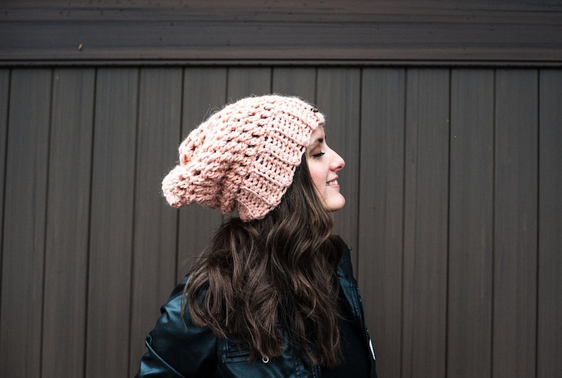 f0753091a Odette Slouchy Knit Beanie // Customizable Slouchy Knit Beanie // Custom  Color Slouchy Beanie // La Bohème Collection