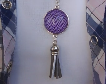 Necklace pattern ethnic purple