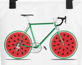 Melon Cycling Tote bag