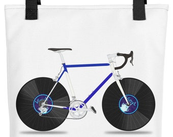 Vinyl Record Bike Tote bag