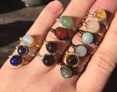 Choice of 2 Healing Crystal Rings for 13 Dollars