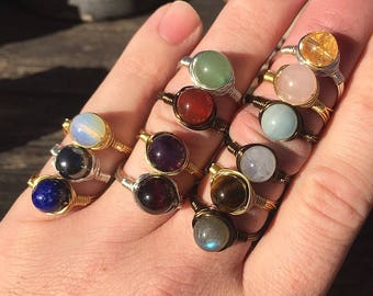 Choice of 2 Healing Crystal Rings for 13 Dollars!