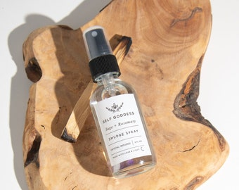Crystal Infused Smudge Spray | Energy Cleanse Spray | Remove Negative Energy Spray | Amethyst Infused | Self Goddess