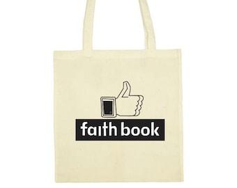 "Tote bag ""Faith book"""