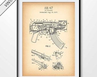 Ak47 gun poster   Etsy