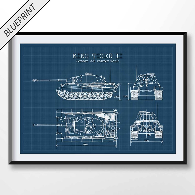 WW2 Tank Patent Print, Tank Poster, Military Wall Art, Army Decor, Vintage  Artwork, Soldier Gift, King Tiger