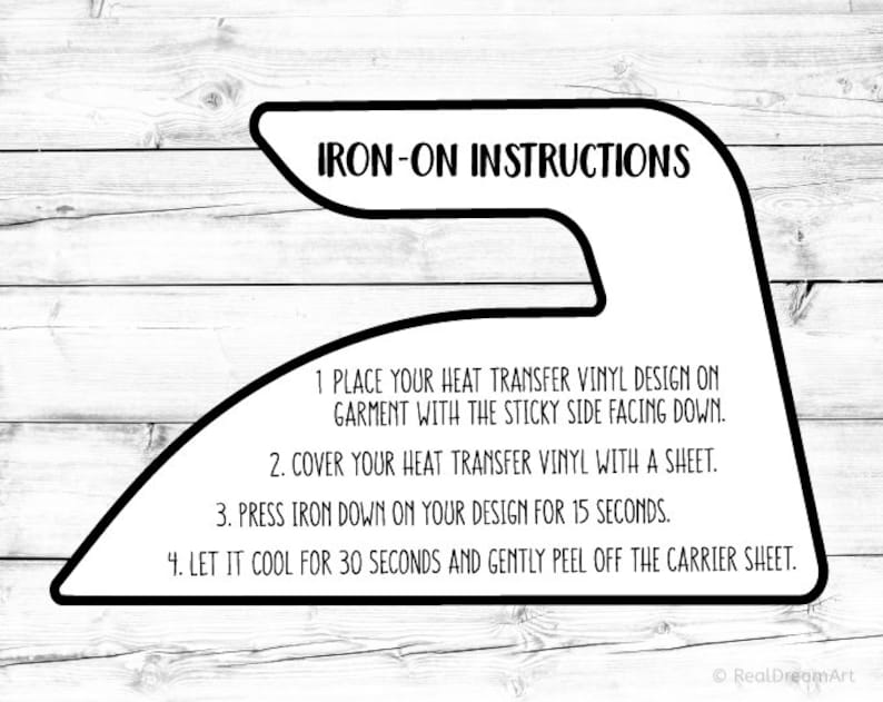 how to iron on transfers