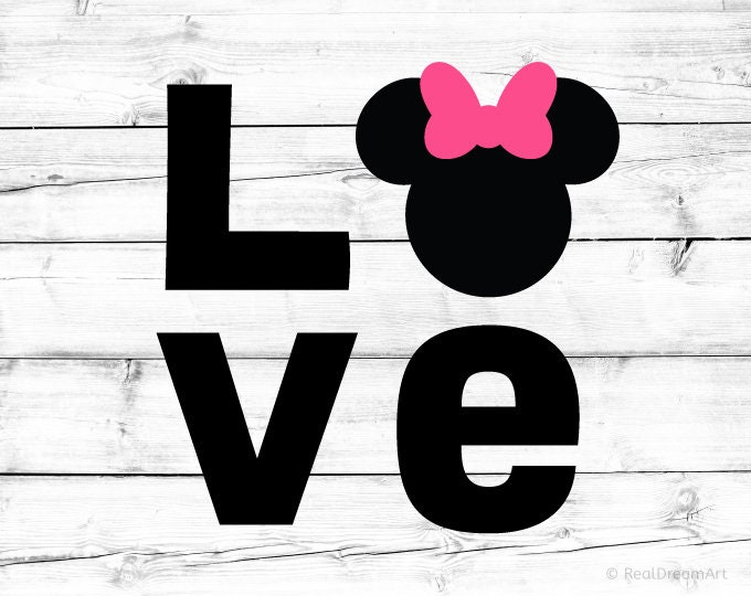 2037+ Minnie Mouse Love Svg SVG PNG EPS DXF File