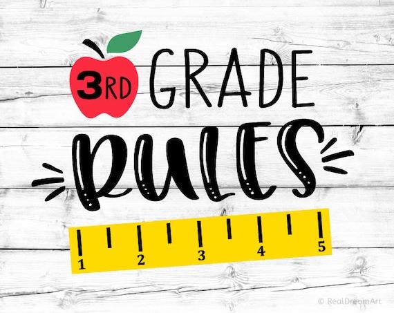 3rd Grade Rules Svg Third Grade Svg Third Grade Dude Svg 3rd   Etsy