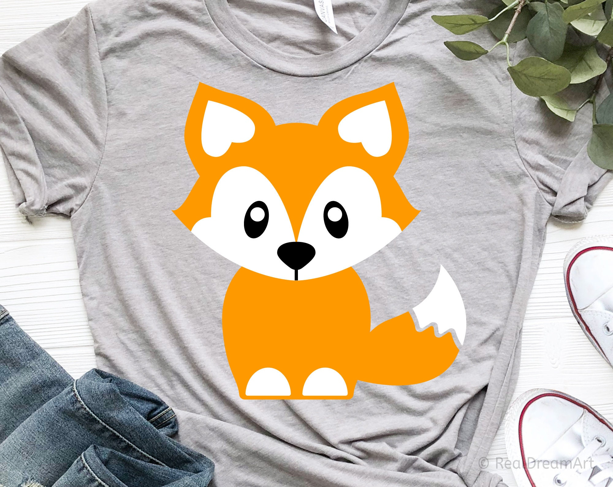 baby fox outlined  SVG cut file t-shirt Cricut SVG Digital file quote .Svg .Png