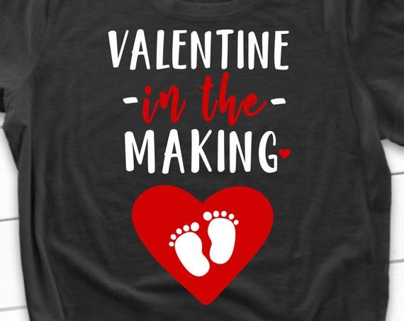 Pregnancy Announcement Valentines Day Svg Valentine In The Etsy