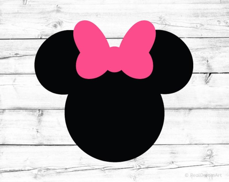 Minnie Mouse Svg Minnie Maus Silhouette Minnie Mouse Kopf Svg Etsy