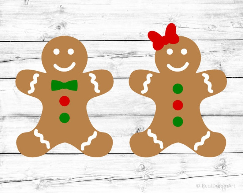 Gingerbread Boy Svg Gingerbread Girl Svg Cut File Christmas Svg Ginger Man Cute Holiday Cookies Svg Kids Baking Svg For Cricut Png Dxf