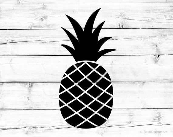 Pineapple Svg Pineapple Silhouette Svg Pineapple Crown Svg ...