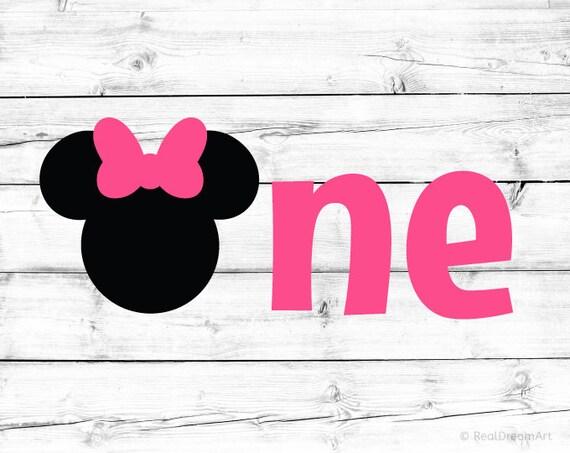 Minnie Mouse Svg Ersten Geburtstag Svg 1 Geburtstag Svg Ein Etsy