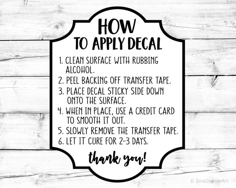 Apply Decal Svg How to Apply Decal Svg Decal Application ...