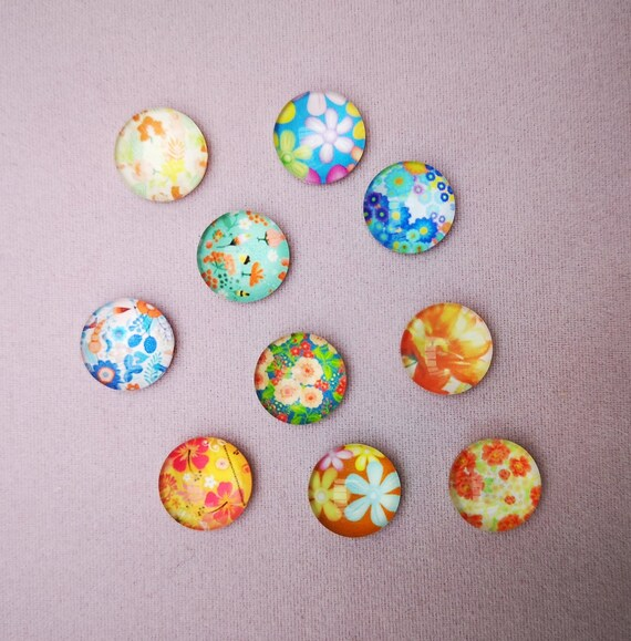 JP 10PCs Mixed Butterfly Glass Flatback Scrapbooking Dome Cabochons 12mm