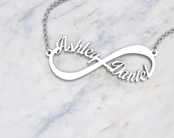 5b5a31846c8fb 10K   14K Solid (Never Plated!) Gold  Infinite Love  Personalized Name  Necklace