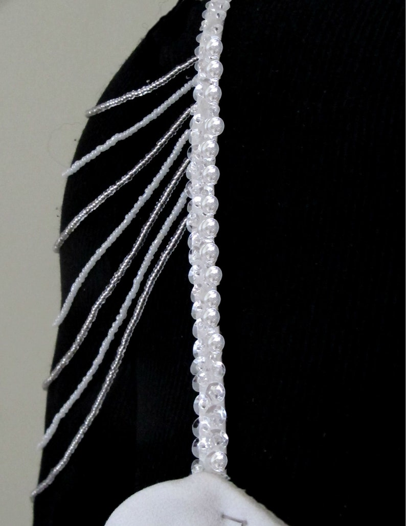 Wedding Shoulder Jewelry Bridal Beaded Straps  Crystal Beaded Straps Arm Jewelry Bridal Shoulder Strap Back Necklace Bridal Epaulettes